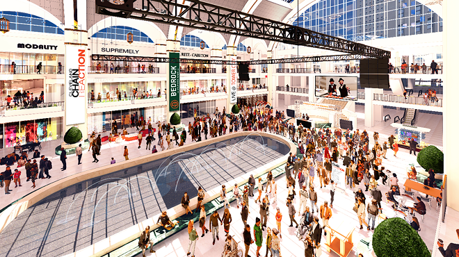 Renderings of how the mall will look as a mall later this year - COURTESY BEDROCK