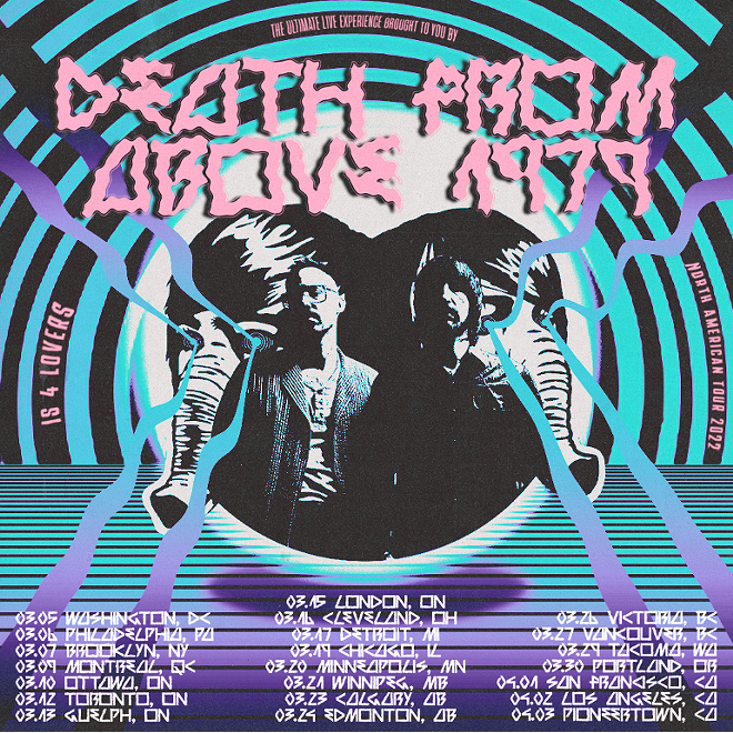 Poster for Death From Above 1979's upcoming tour. - COURTESY OF ATOM SPLITTER PR
