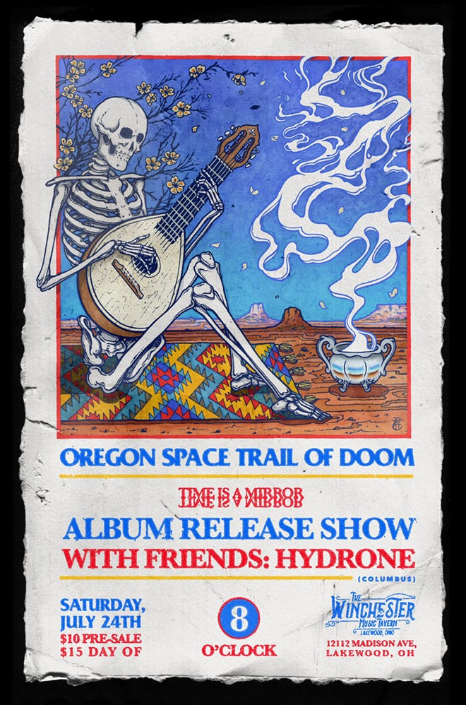 Poster for Oregon Space Trail of Doom's release show. - COURTESY OF OREGON SPACE TRAIL OF DOOM