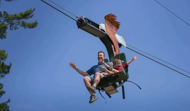 Eagle Zip Adventure is now open - COURTESY CLEVELAND METROPARKS