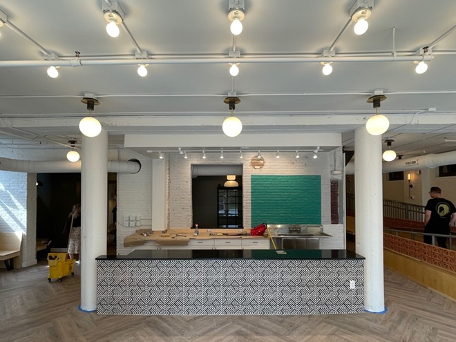 Inside the new Rising Star cafe, opening soon in Tremont. - DOUGLAS TRATTNER