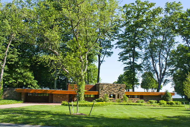 The Frank Lloyd Wright-designed house in North Madison. - COURTESY OF WRHS