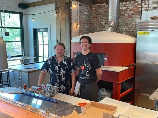 Chef-partner Eddie Tancredi (left) and chef Earl Warren. - DOUGLAS TRATTNER