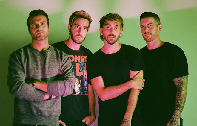 The pop-punk band All Time Low. - COURTESY OF ELEKTRA MUSIC GROUP