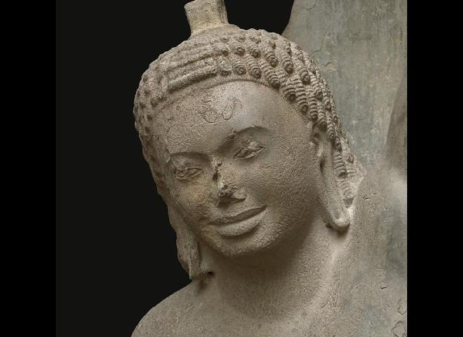 Krishna Lifting Mount Govardhan (detail). - CLEVELAND MUSEUM OF ART