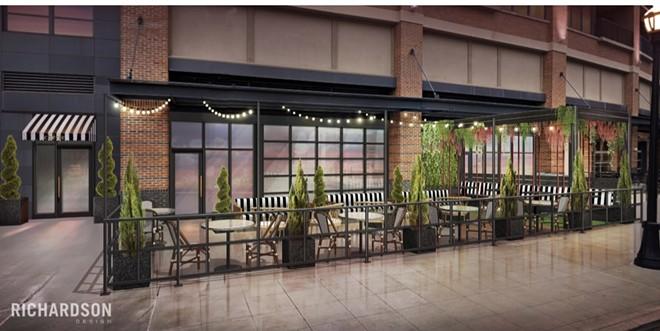 Cherie Wine Bar to open this fall in Flats East Bank. - RICHARDSON DESIGN