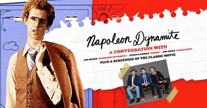 Poster for the Akron Civic's screening of Napoleon Dynamite. - AKRONCIVIC.COM