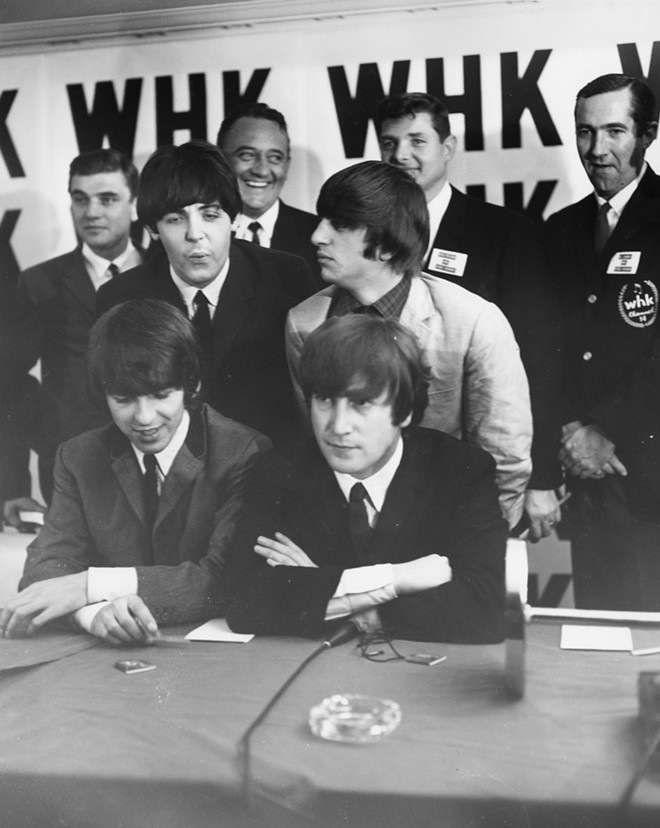 The Beatles at a press conference in Cleveland - CLEVELAND PUBLIC LIBRARY