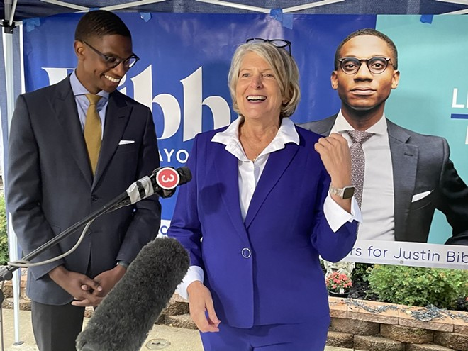 Former Cleveland Mayor Jane Campbell endorses Justin Bibb, (9/23/21). - COURTESY JUSTIN BIBB FOR MAYOR
