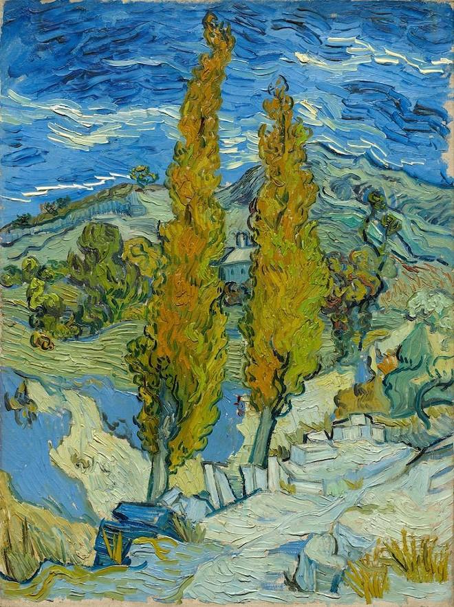 Two Poplars in the Alpilles near Saint-Rémy, 1889. Vincent van Gogh - COURTESY CMA