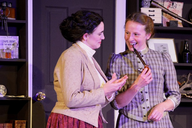 Miss Holmes is on stage now - PHOTO BY SCOTT CUSTER
