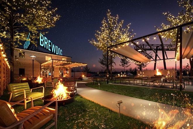 Artist's rendering of BrewDog Cleveland, opening in November. - BREWDOG