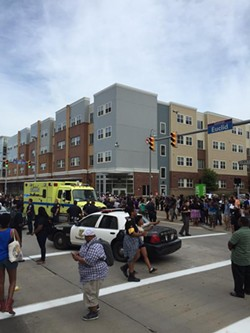 The scene at Euclid and E. 24th. - @MVMT4BL