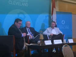 L-R: Host Mike McIntyre, Bill Denihan, Ian James - VIA @THECITYCLUB