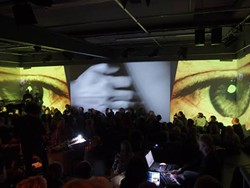 INTERLOCUTORS photo by Roman Heller; live performance at B-Seite Festival - Mannheim, Germany - March 2015