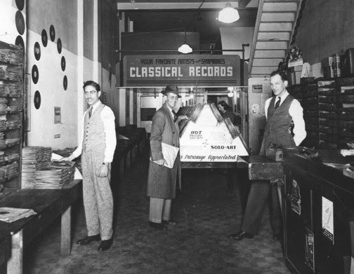 Leo Mintz, founder of Record Rendezvous, on the right.