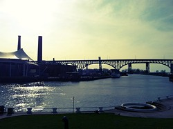Even the merging of nature and industry is (kinda) beautiful in Cleveland. - ERIC SANDY/SCENE