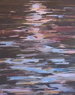 """Spirit of Water #1"" oil on panel, 48x60"" 2016"