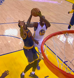 """Draymond's Iron Elbow? Meet J.R. Smith's jaw."""