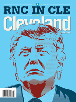 Cleveland Magazine's July cover. - @CLEVELANDMAGAZINE / ILLUSTRATOIN BY ROB DOBI