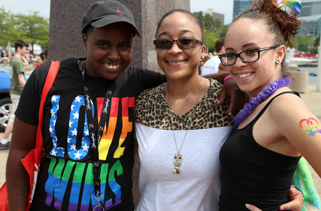 ATTENDEES AT 2015 CLEVELAND PRIDE PARADE; PHOTO BY EMANUEL WALLACE