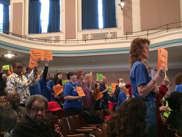 Teachers face the board in 2015. - ERIC SANDY / SCENE