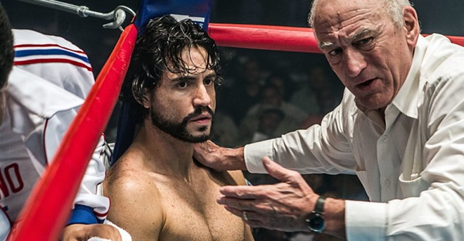 Edgar Ramirez and Robert DeNiro in the ring.