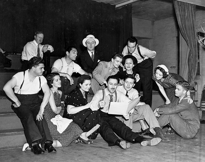 MARC BLITZSTEIN AND THE CAST OF THE CRADLE WILL ROCK (1937), WIKIPEDIA