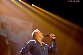 Morrissey performing at the Akron Civic in 2015. - JOE KLEON