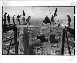 Ironworkers on 200 Public Square in 1985. - @THISWASCLE