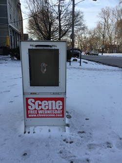 An empty Scene box in Tremont. - SAM ALLARD / SCENE