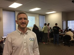 """Richard Pine hosts an open house and """"Weed Dating"""" panel event at Cleveland Cannabis College Feb. 18. - ERIC SANDY / SCENE"""
