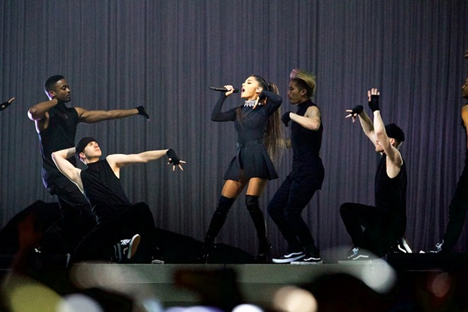 Ariana Grande rocked the Q Sunday night. - SCOTT SANDBERG