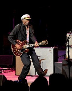 Chuck Berry performing in Cleveland in 2012. - JOE KLEON