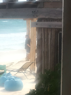 Oscar Villarreal, gazing at his conquered beach in Tulum. - COURTESY: PAOLA SBRIZZI