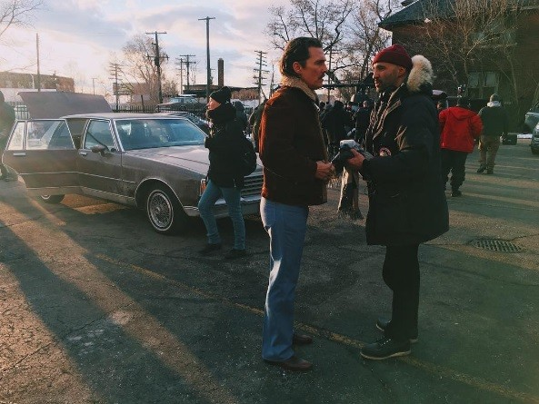"Matthew McConaughey filming ""White Boy Rick."" - PHOTO VIA MARIEWIN/INSTAGRAM"