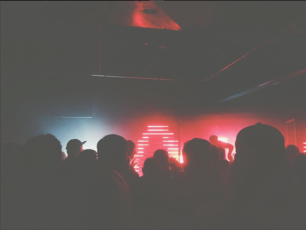 Com Truise playing his vintage robotic synth music to an enthuastic crowd at Grog Shop last night. - IMAGE VIA STEFANYBEE/INSTAGRAM