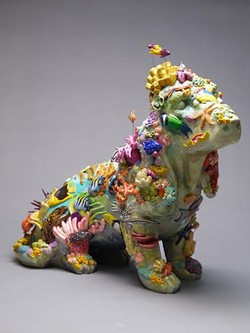"""Melissa Rohrs' custom """"Great Terrier Reef,"""" to be auctioned off live during this year's Art Fur Animals benefit."""