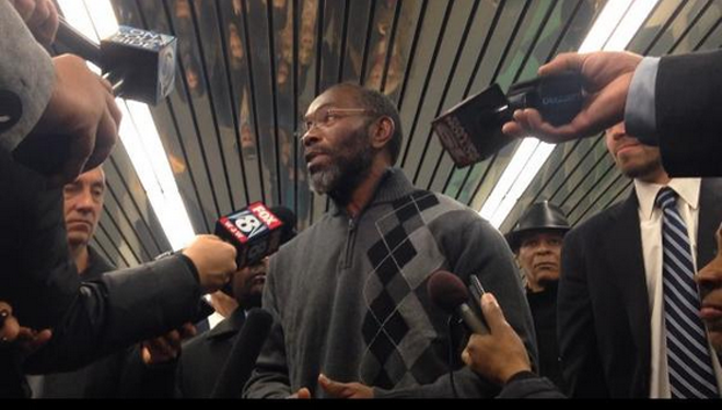 Exonoree Ricky Jackson on the day he was released from prison - FRANK LANZA