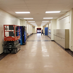 An Ellet High School hallway. - PHOTO VIA MATTERETH/INSTAGRAM