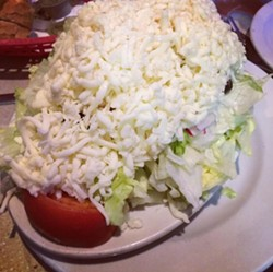 Don't worry, Luigi's fans, the cheesiest salad in the Land isn't going anywhere. - PHOTO VIA RENEED7/INSTAGRAM