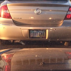 Somehow this Ohio plate slid by the approval committee. - PHOTO VIA KARISAMERCER/INSTAGRAM