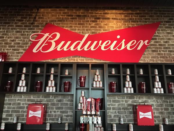 Bud and Burgers' bar