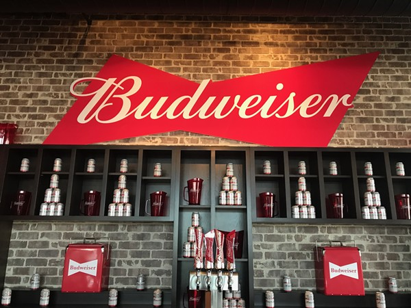 Bud and Burgers' bar