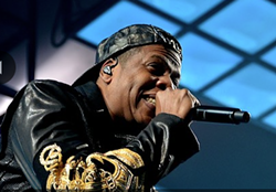 Jay-Z performing at the Q in 2014. - JOE KLEON