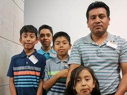 Lara Lopez and his children. - PHOTO VIA ERIC LARA/GOFUNDME