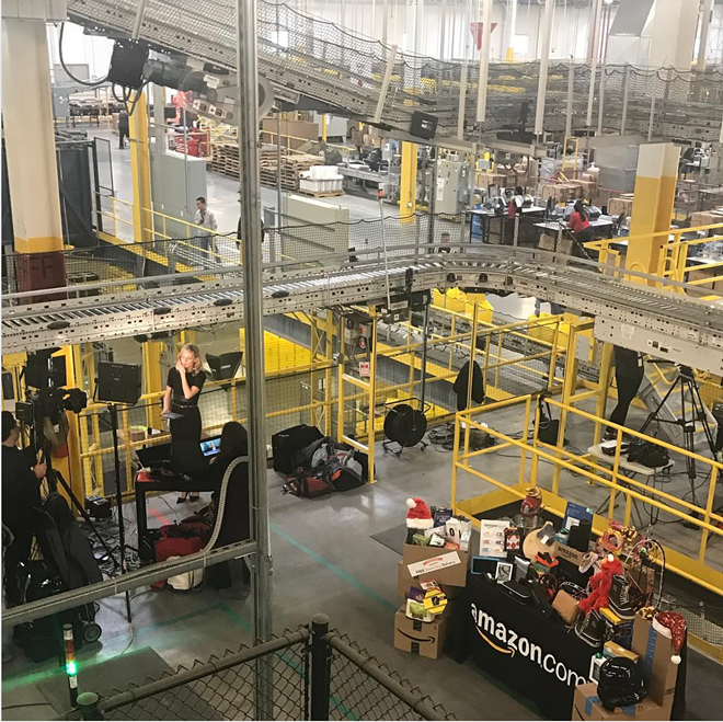 Inside an Amazon Fulfillment Center - PHOTO VIA MARYSULLI/INSTAGRAM