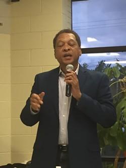 Eric Brewer; Mayoral Candidates' Forum 7/24/17 - SAM ALLARD / SCENE