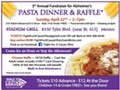 3rd Annual Pasta Dinner & Raffle Benefit Walk to End Alzheimers
