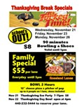 Thanksgiving Break Bowling Specials